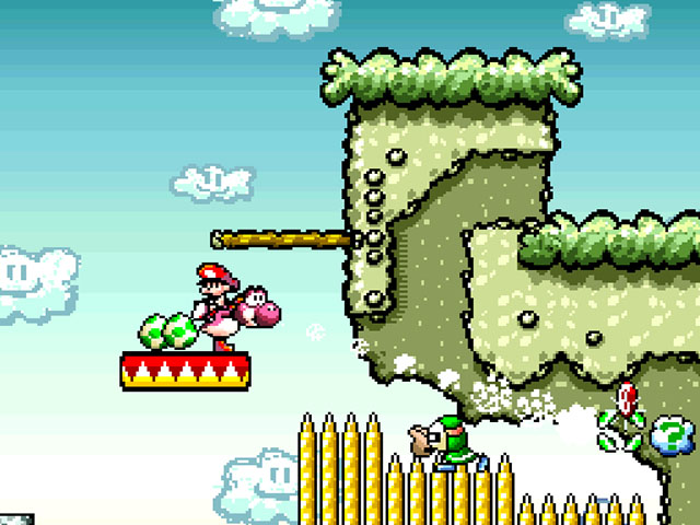 Super Mario World 2 Yoshis Island SNES